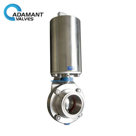 Sanitary Pneumatic Butterfly Valve Actuator with Tri-clamp Ends