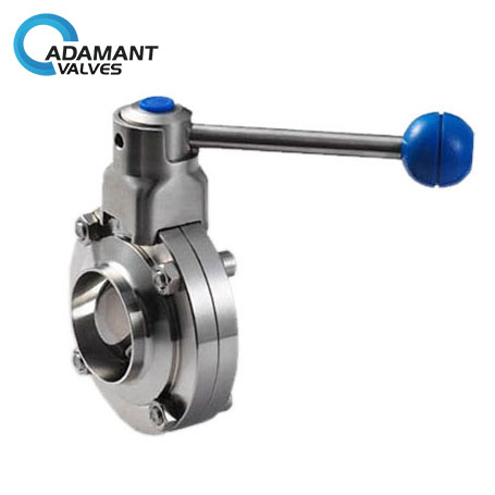 Sanitary Butt-weld Butterfly Valve with Pull Handle