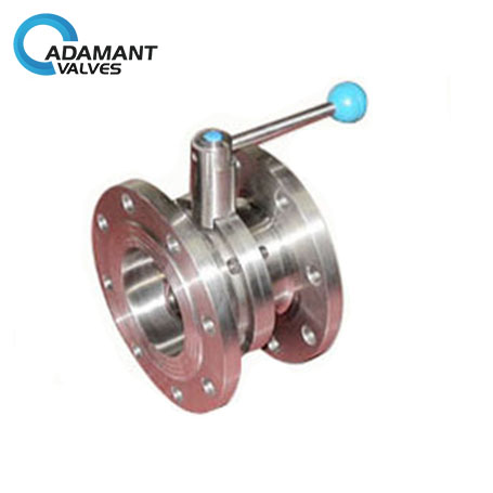 Sanitary Flange Butterfly Valves with Pull Handle