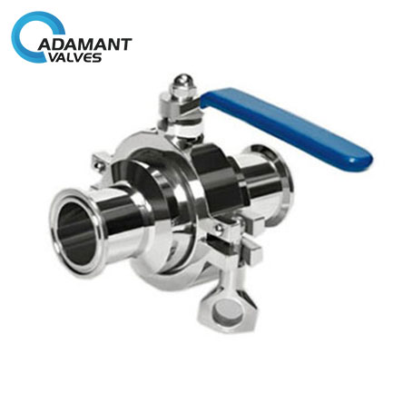 Sanitary Cavity Filled Ball Valve with Tri-clamp Ends, Manually Operated