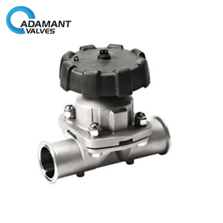 Sanitary Diaphragm Valves with Tri-clamp Ends, Manual Type, Plastic Handwheel