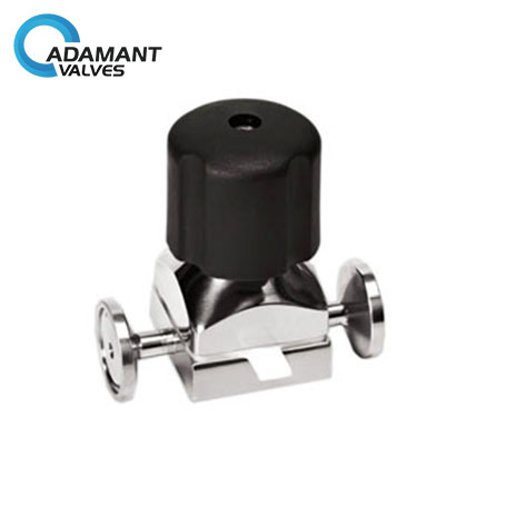 Sanitary Mini Diaphragm Valves with Tri-clamp Ends, Manual Type