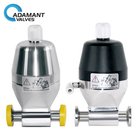 Sanitary Mini Diaphragm Valves with Tri-clamp Ends, Pneumatic Type
