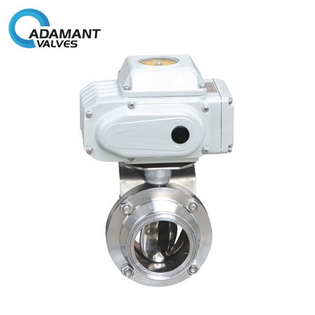 Sanitary Actuated Butterfly Valve, Electric Operation