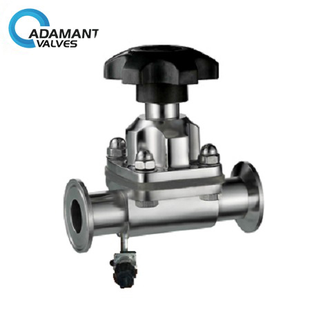 Sanitary Diaphragm Bleed Valve With Tri-clamp Ends, Manual Type