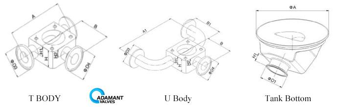 Sanitary Pneumatic Operated Diaphragm Valves   Adamant Valves