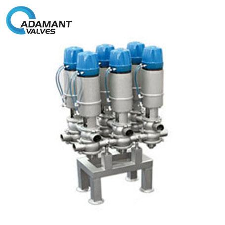 sanitary shutoff divert valves