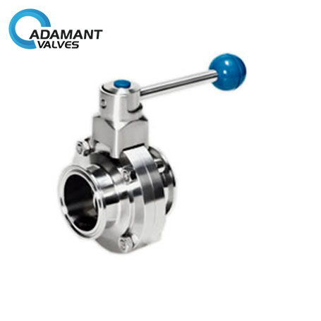 Butterfly Valve Sanitary Butterfly Valve with Stainless Steel Trigger Handle