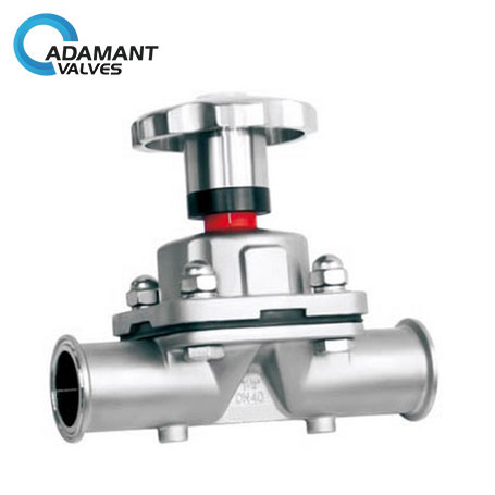 Sanitary Diaphragm Valves with Tri-clamp Ends, Manual Type, SS Handwheel
