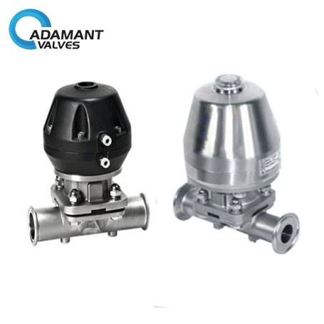 Sanitary Diaphragm Valves with Tri-clamp Ends, Pneumatic Type