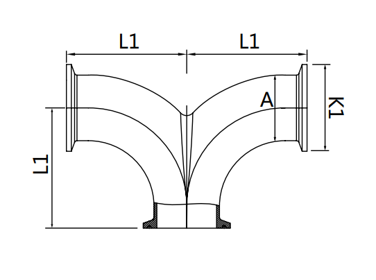clamp double elbows