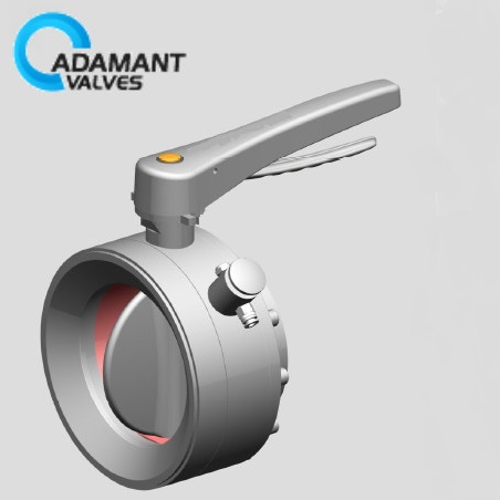 powder butterfly valve