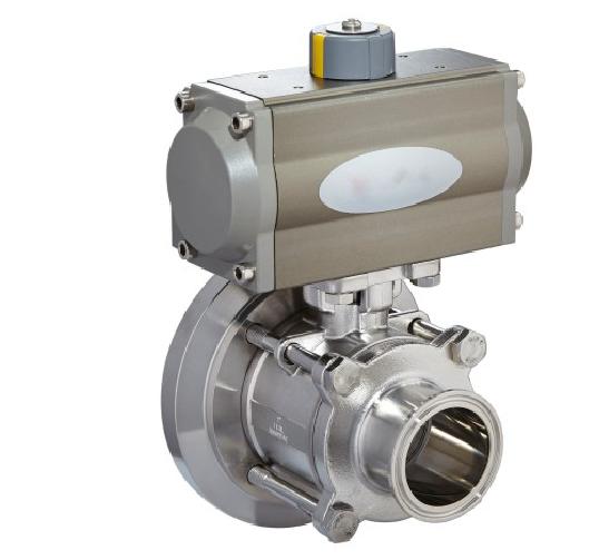 Pneumatic tank bottom ball valve