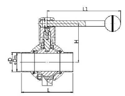 manual butterfly ball valve