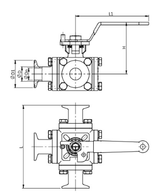 manual full bore ball valve