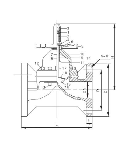 CPVC diaphragm valve