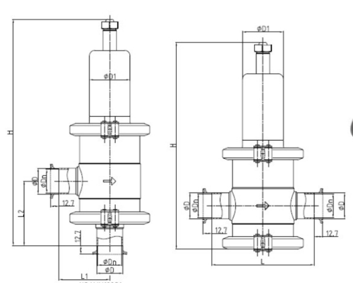 high purity pressure reducing valves