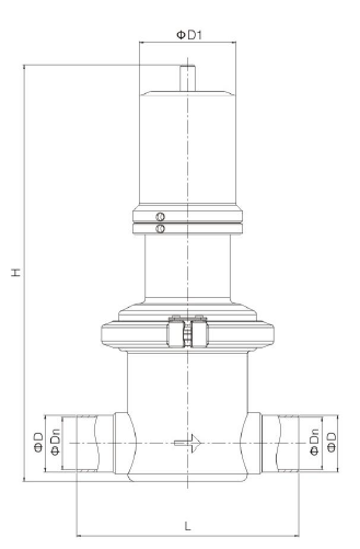Sanitary S-Type Pressure Reducing Valve-2