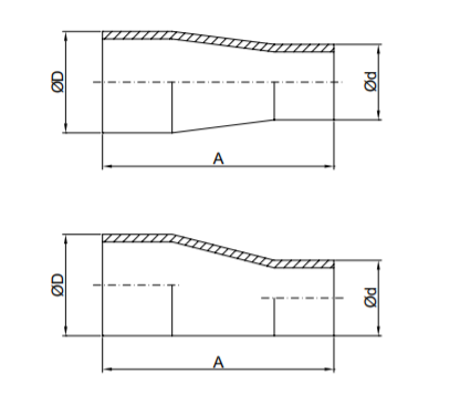 Sanitary Weld Reducer (Long Type) Specifications