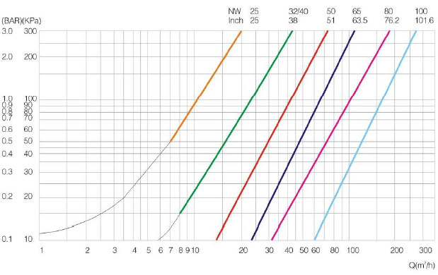 check valve curve