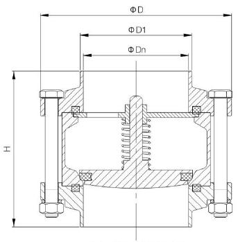 three piece check valve